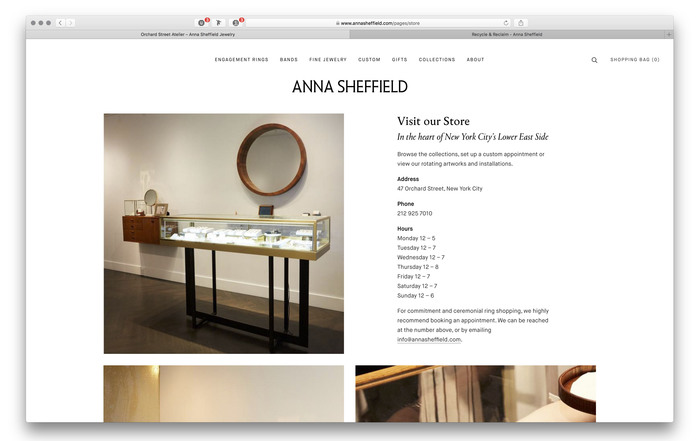 Anna Sheffield website and blog 6