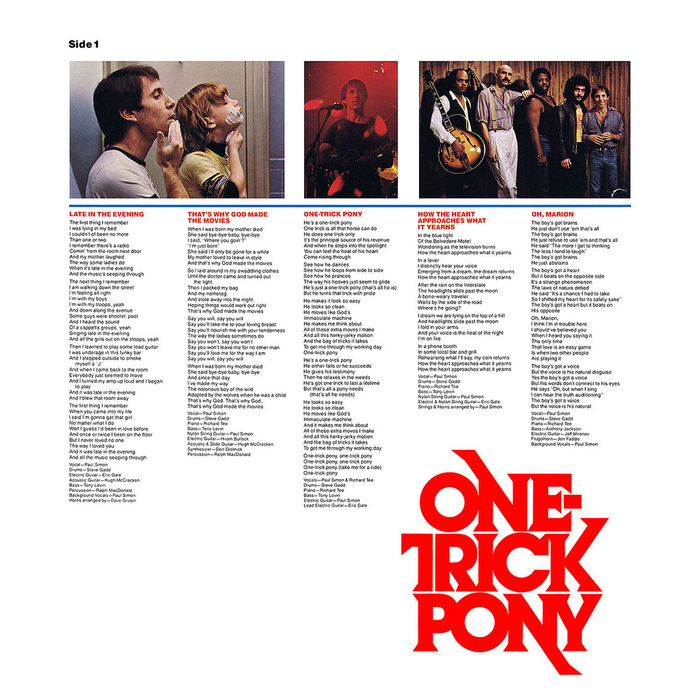 One-Trick Pony album art and movie poster 3