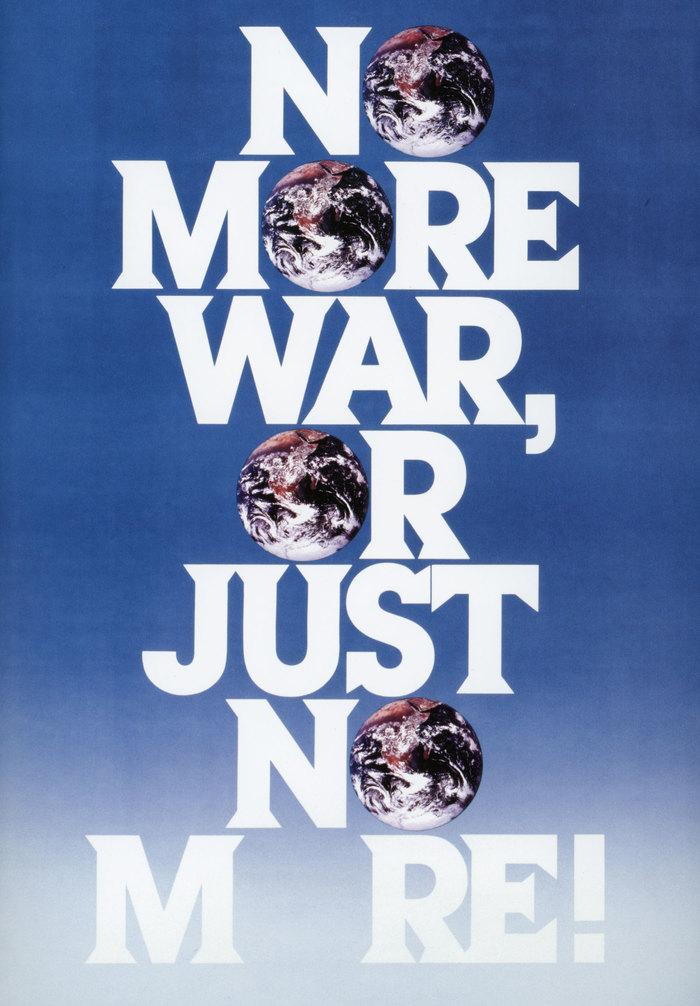 """No More War"" poster"