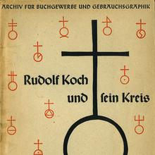"""<cite>Archiv für Buchgewerbe und Gebrauchsgraphik</cite>, """"Rudolf Koch und sein Kreis"""""""
