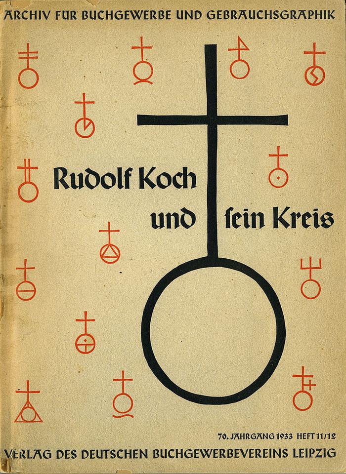 """Archiv für Buchgewerbe und Gebrauchsgraphik, """"Rudolf Koch und sein Kreis"""""""