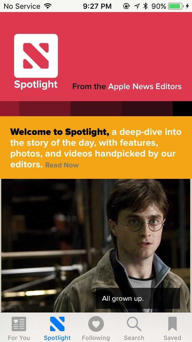 Apple News Spotlight (iOS 11) 1