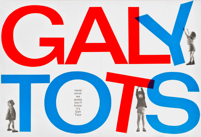 Catalog cover for Galt Toys, 1969–70, playing with the logotype (in Folio). The small type in the 'O' is Univers, which was often used as a secondary typeface during this period.