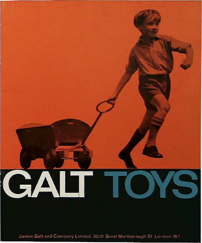 Cover of first Galt Toys catalogue, 1961