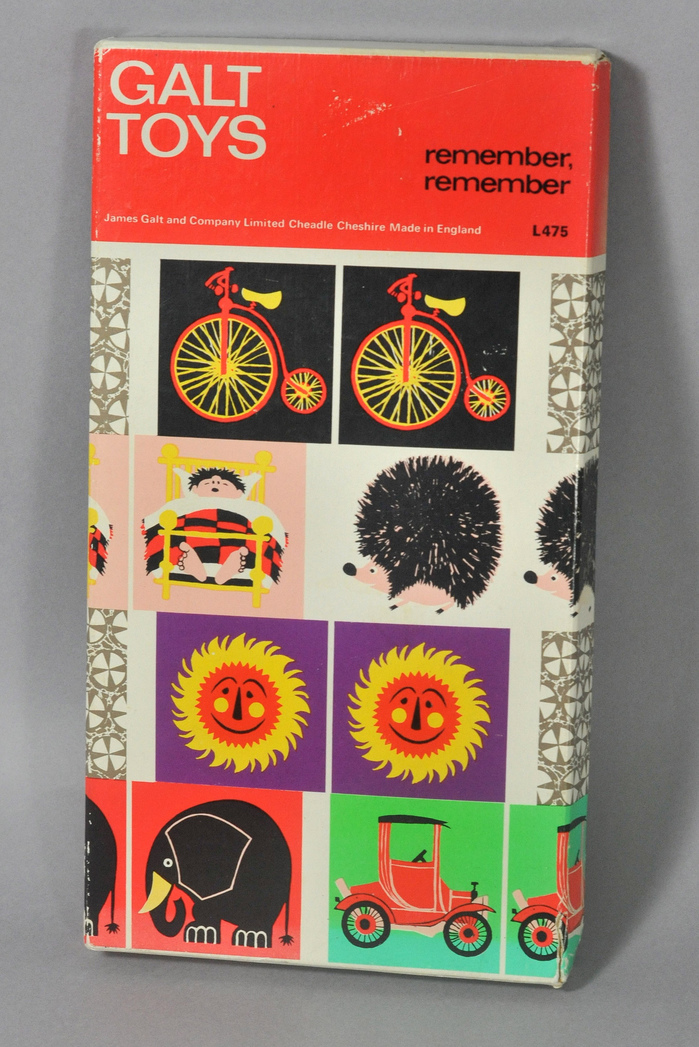 Memory tile game with illustrations by Kenneth Townsend.