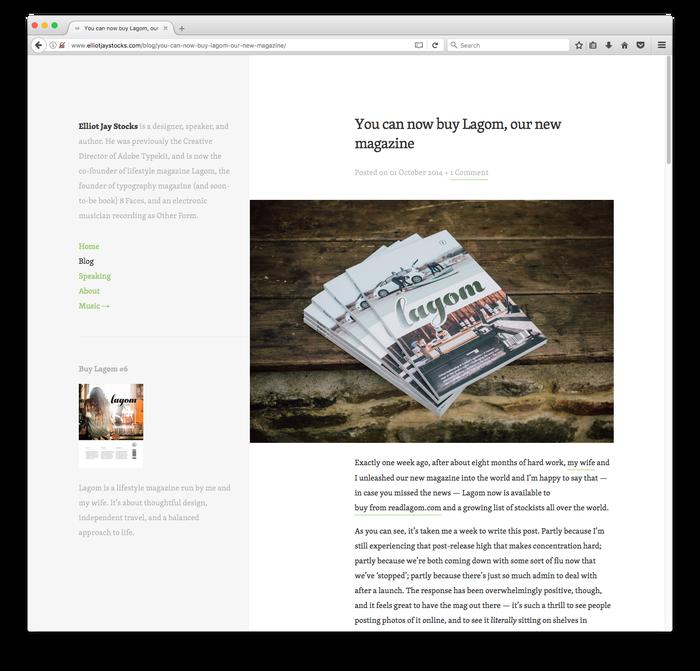 Blog of Elliot Jay Stocks 2