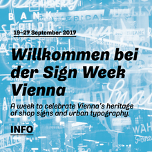 Sign Week Vienna 2017 website