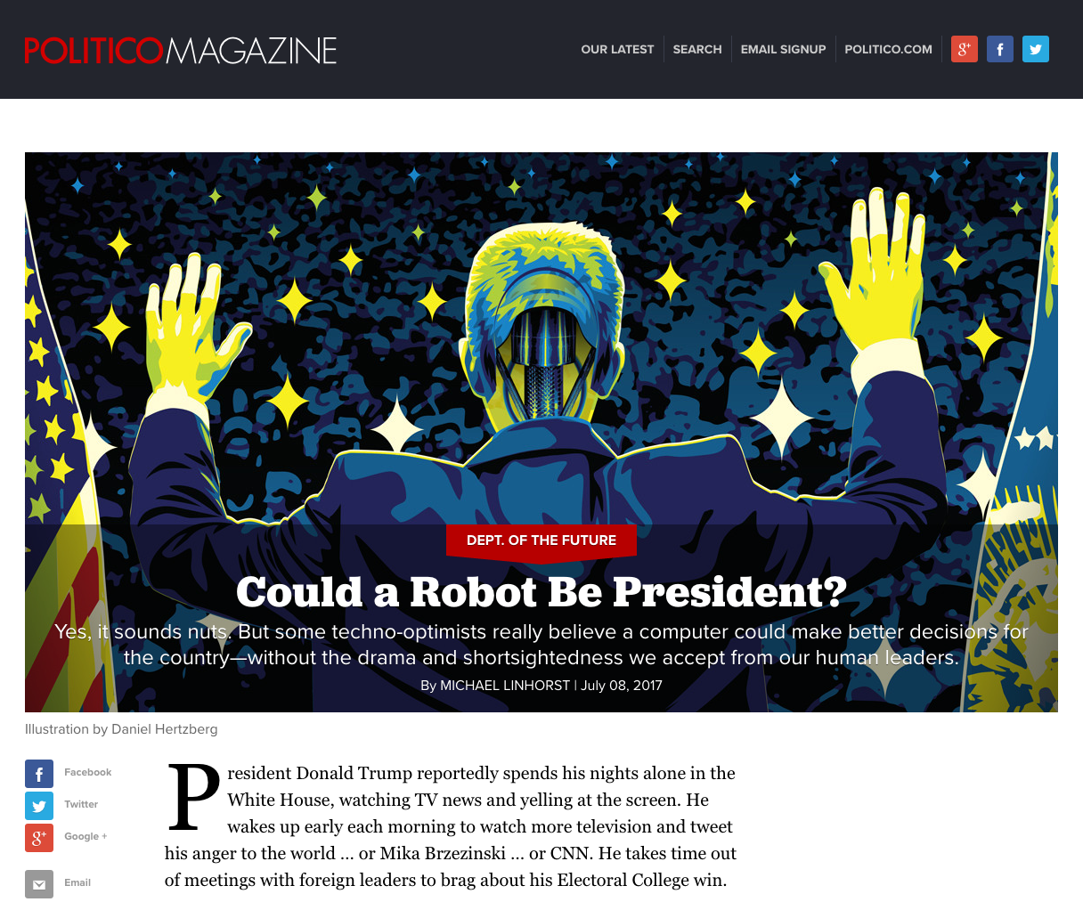 Politico website - Fonts In Use