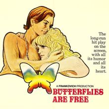 <cite>Butterflies Are Free</cite> movie posters