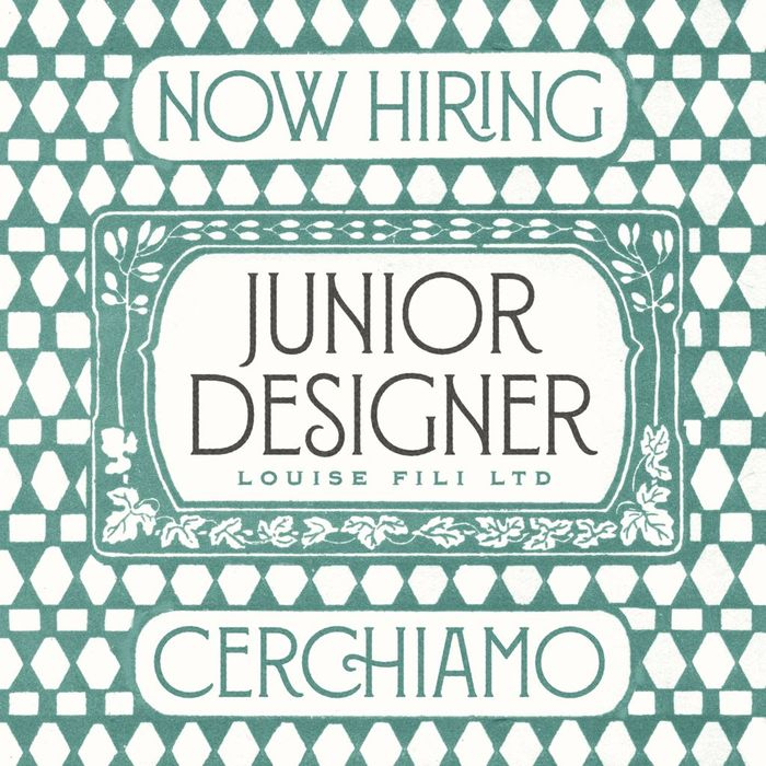 Louise Fili Ltd: Junior Designer job posting 2