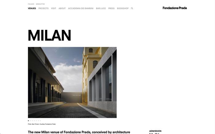 Fondazione Prada identity and website 5
