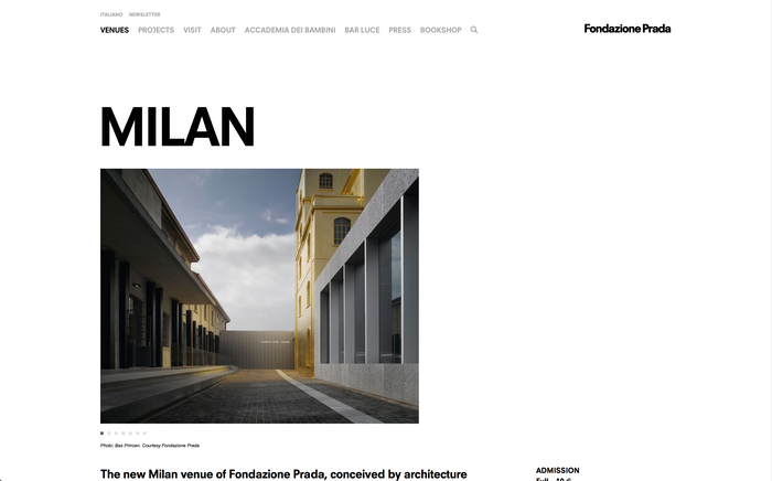 Fondazione Prada identity and website 5
