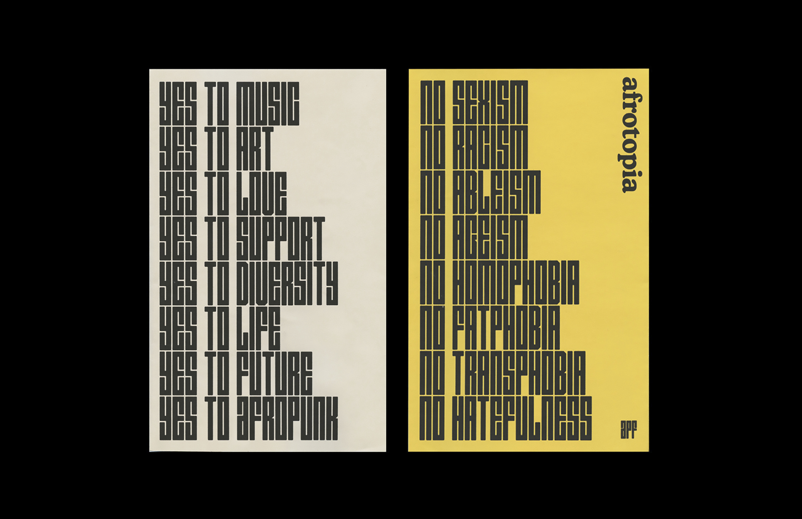 Afropunk Festival (fictional) - Fonts In Use
