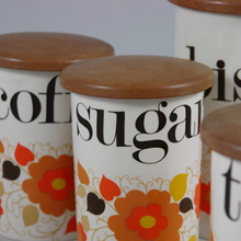 Crown Devon / Mary Quant ceramic containers