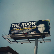 <cite>The Room</cite> movie poster and billboard