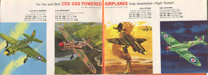 A-25 Dive Bomber, P-40 Warhawk, ju87d Stuka, RAF Spitfire … The red caps appear to be News Gothic, paired with Venus Italic. Some smaller texts are set in Monotype's Grotesque (Light 126 or Regular 215). Its italics are distinguished by a descending 'f'.