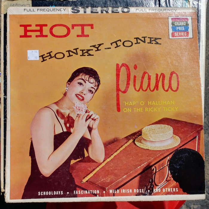 Happy O'Hallihan – Hot Honky-Tonk Piano album art