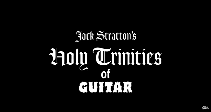 "The title for the ""Guitar"" episode pairs Goudy Text with the solid Background style of Hobeaux Rococeaux."
