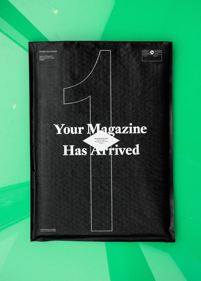 "Super magazine #1, ""The Size Issue"" 1"