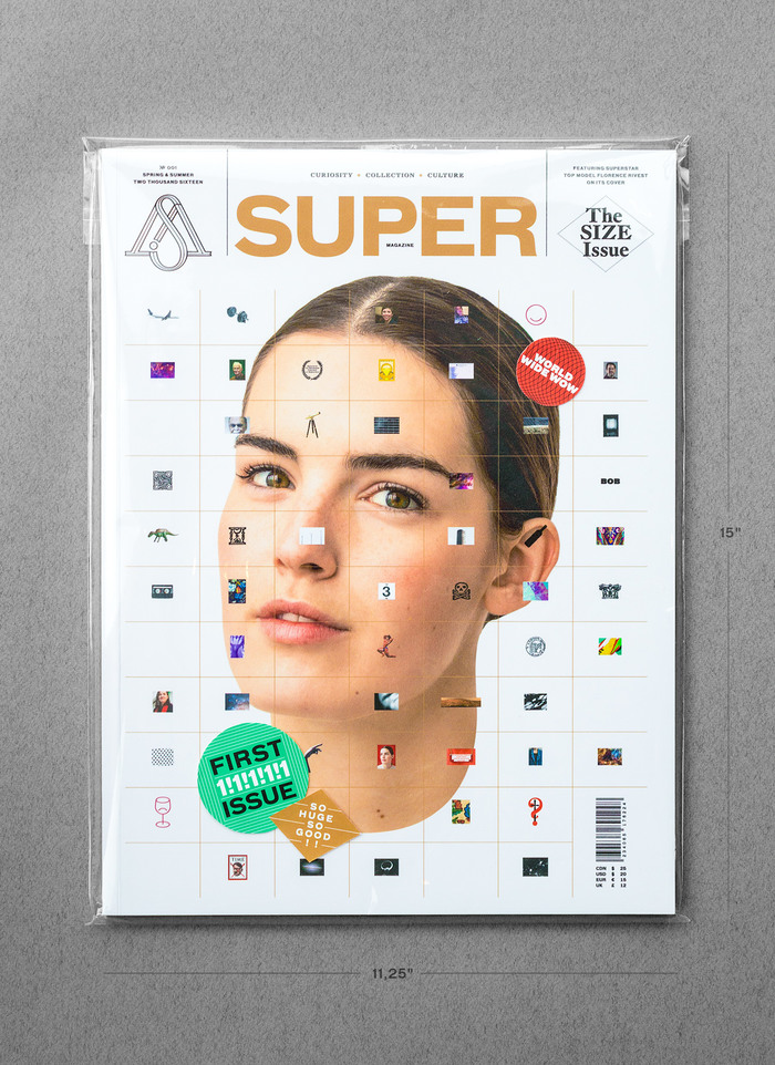 "Super magazine #1, ""The Size Issue"" 2"