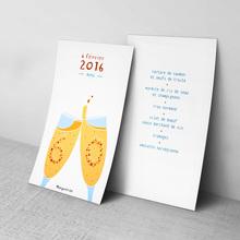 Birthday menu card for Marguerite