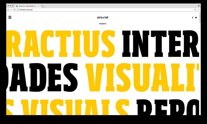 Ara.cat's visualizations website 1
