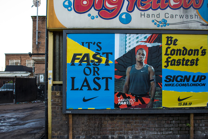 """""""London's Fastest"""" poster campaign by Nike 4"""