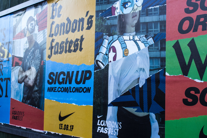 """London's Fastest"" poster campaign by Nike 3"