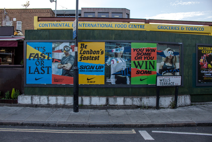 """""""London's Fastest"""" poster campaign by Nike 1"""
