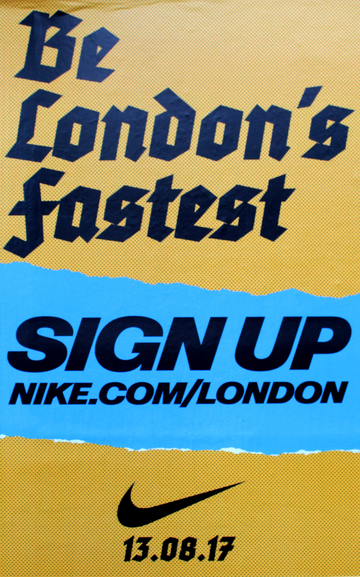"""""""London's Fastest"""" poster campaign by Nike 9"""