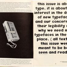 <cite>Emigre #15: Do You Read Me? </cite>(opening spread)