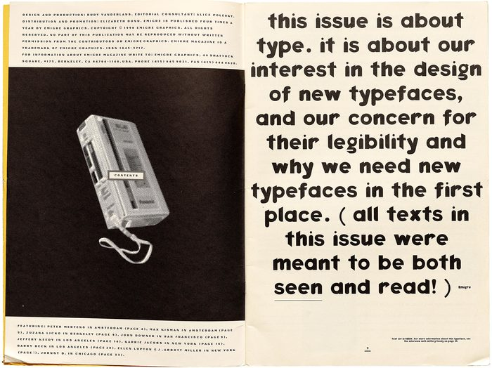 Emigre #15: Do You Read Me? (opening spread)