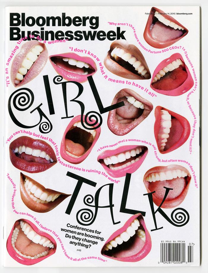"""Bloomberg Businessweek, Feb. 8–14, 2016 """"Girl Talk"""""""