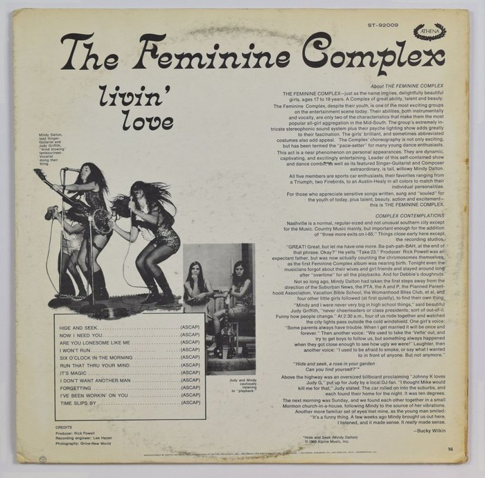 The Feminine Complex – Livin' Love album art 2