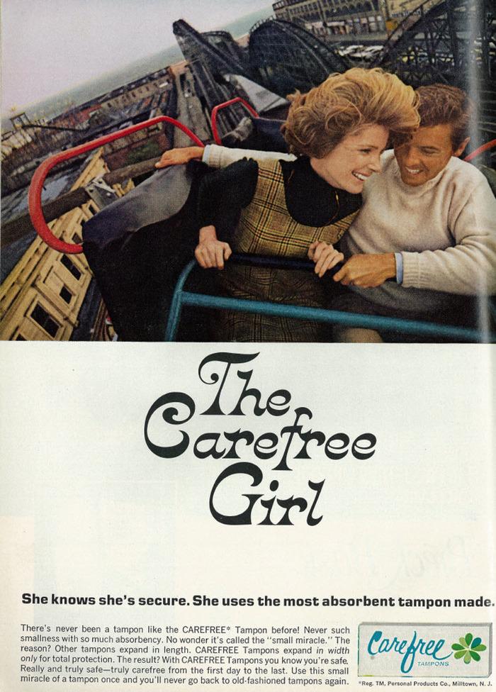 Roller coaster ad, published in Redbook magazine, November 1968, Vol. 132, No. 1