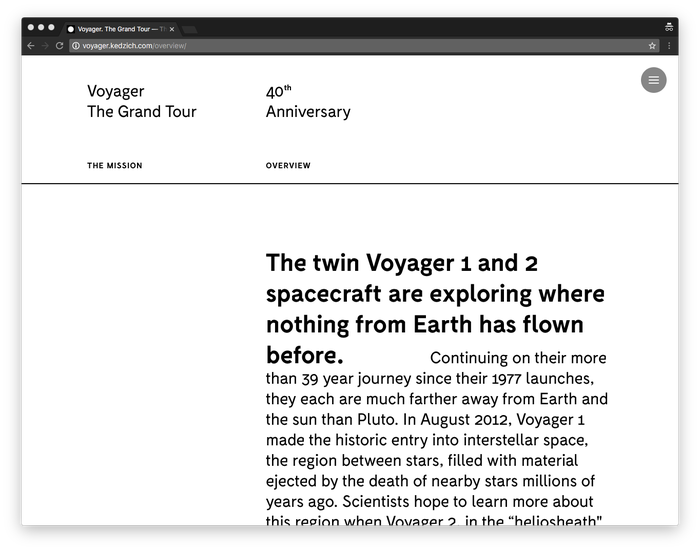 Voyager. The Grand Tour 2