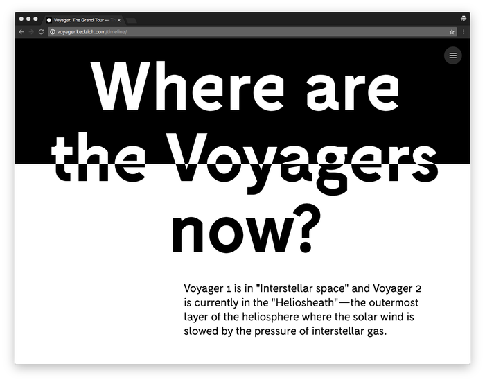 Voyager. The Grand Tour 5