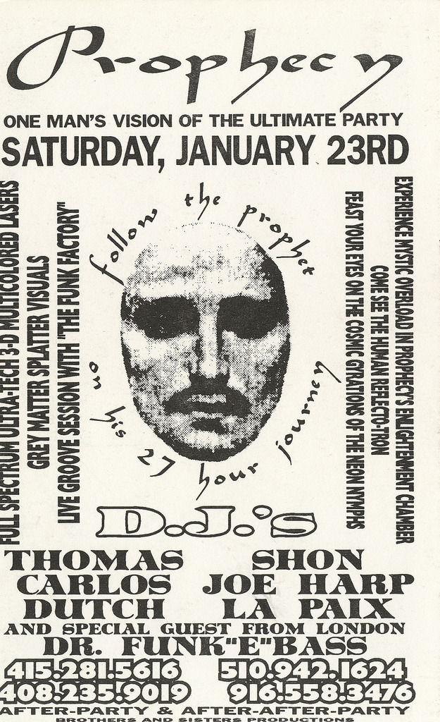"""Prophecy"" San Francisco rave flyer"