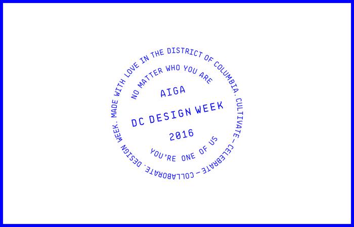 AIGA Washington DC Design Week 1