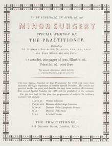 <cite>The Practioner</cite> 1936 advert, Curwen Press