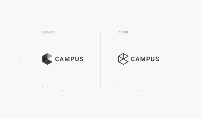 "From Brand New: ""The logo hasn't changed much. Originally designed by Portland, OR-based Instrument, the logo was made of an isometric cube forming an abstract ""C"" and a serious sans serif [Roboto]. The new version changes the shades of gray for a wireframe approach."""