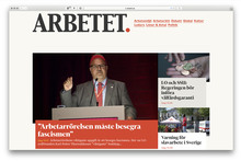 <cite>Arbetet</cite> website (2017)