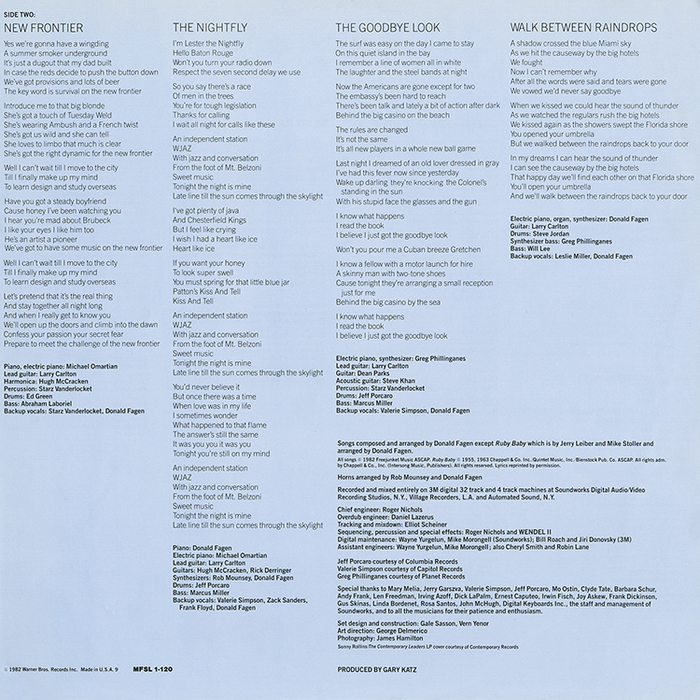 Secondhalf liner notes.