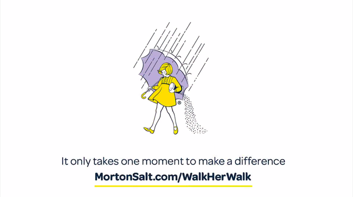 "The clip ends with an image of the ""Morton Salt Girl"". Since this brand figure is one of the ten best-known symbols in the United States, there is no need for additionally showing the wordmark. Omnes delivers the message (""It only takes one moment to make a difference / Help brighten the world"") and, in a bolder weight, the link to the campaign web page."