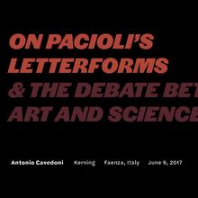 Pacioli presentation, Kerning 2017