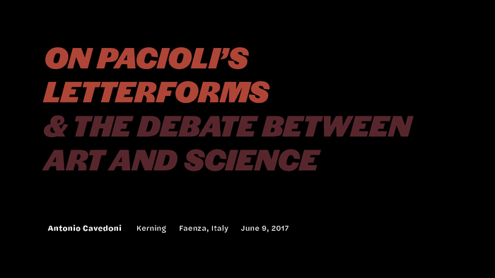 Pacioli presentation, Kerning 2017 1