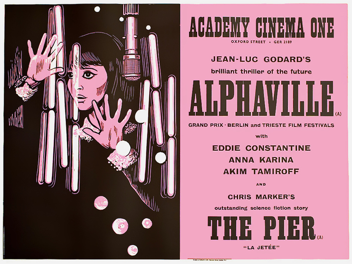 "Alphaville (FR 1965) — Among digital fonts, Clarendon Extra Condensed by Wooden Type Fonts is a good approximation for ""Alphaville""."