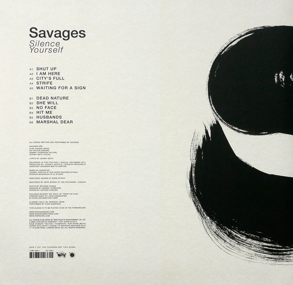 Savages — Silence Yourself 2