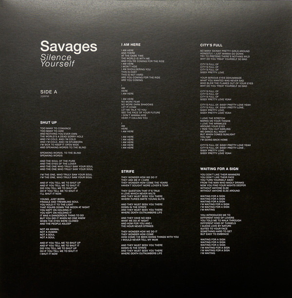 Savages — Silence Yourself 3
