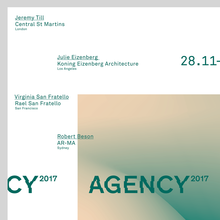 Agency2017 call out poster